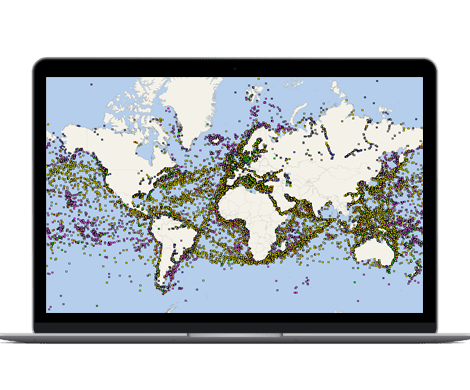 Satellite global AIS coverage of marine traffic - VT Explorer